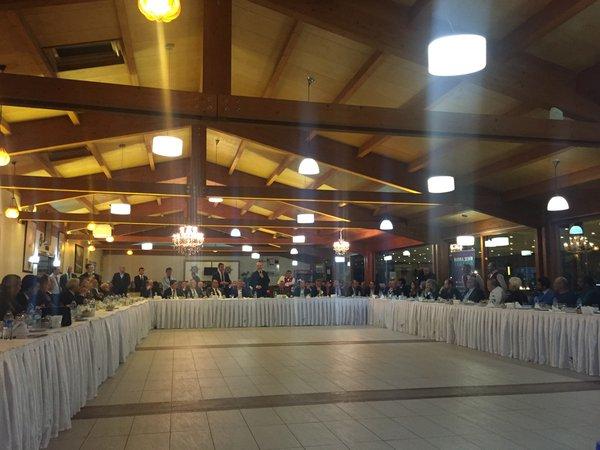 Trabzonlu İş Adamları ve Bürokratlar Yemekte Bir Araya Geldi