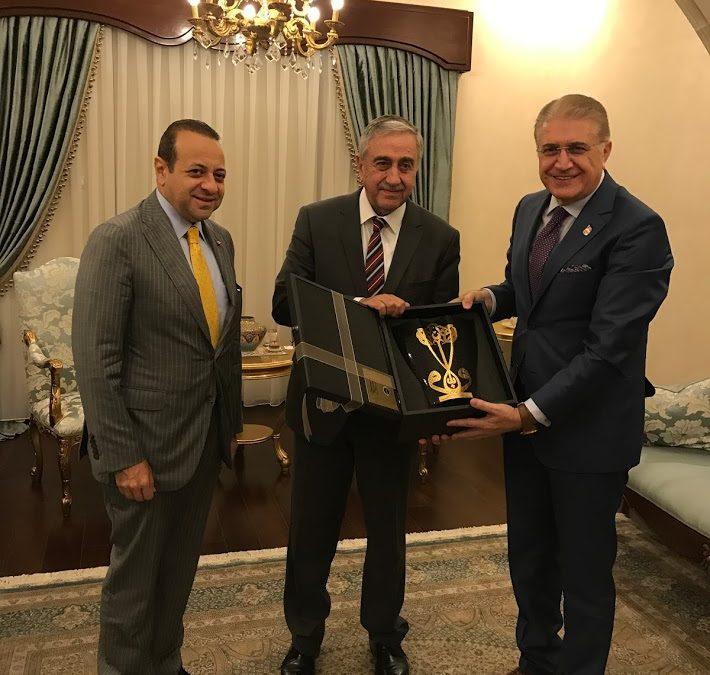 KKTC Cumhurbaşkanı Akıncı Dr.Aydın ve Bağış'ı Kabul Etti