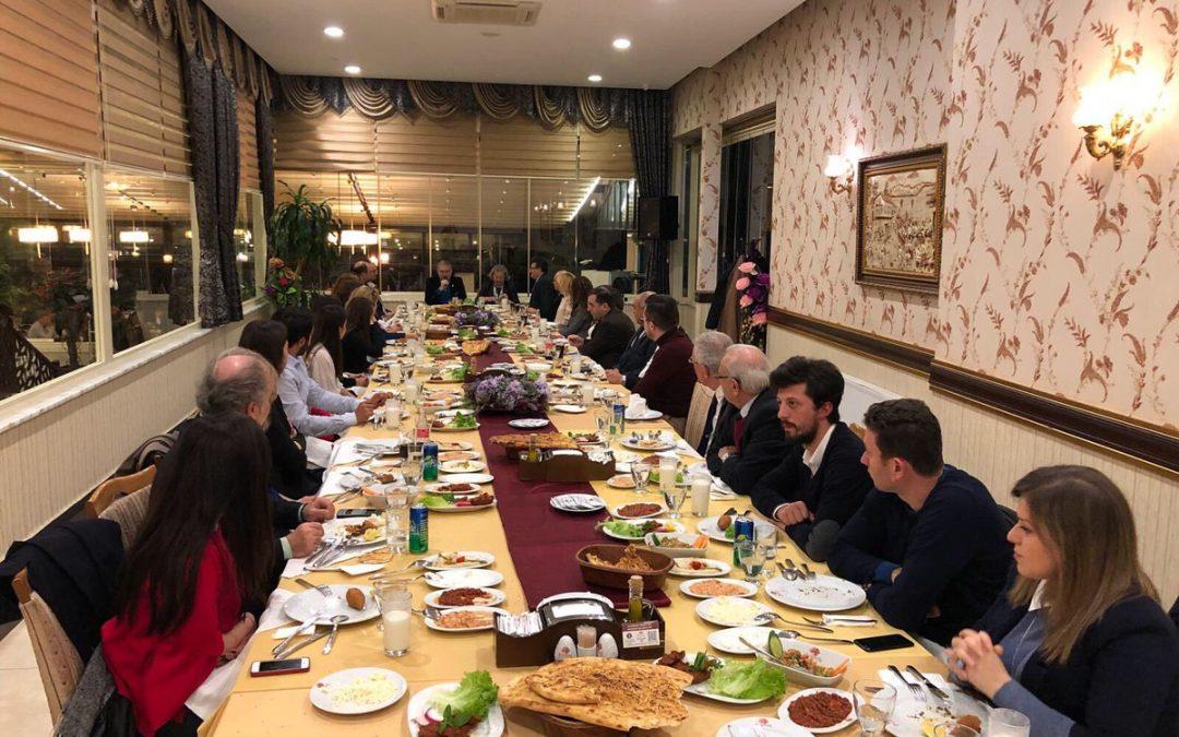 Dr. Mustafa Aydın, Yıl Sonu Değerlendirme Yemeğine Katıldı