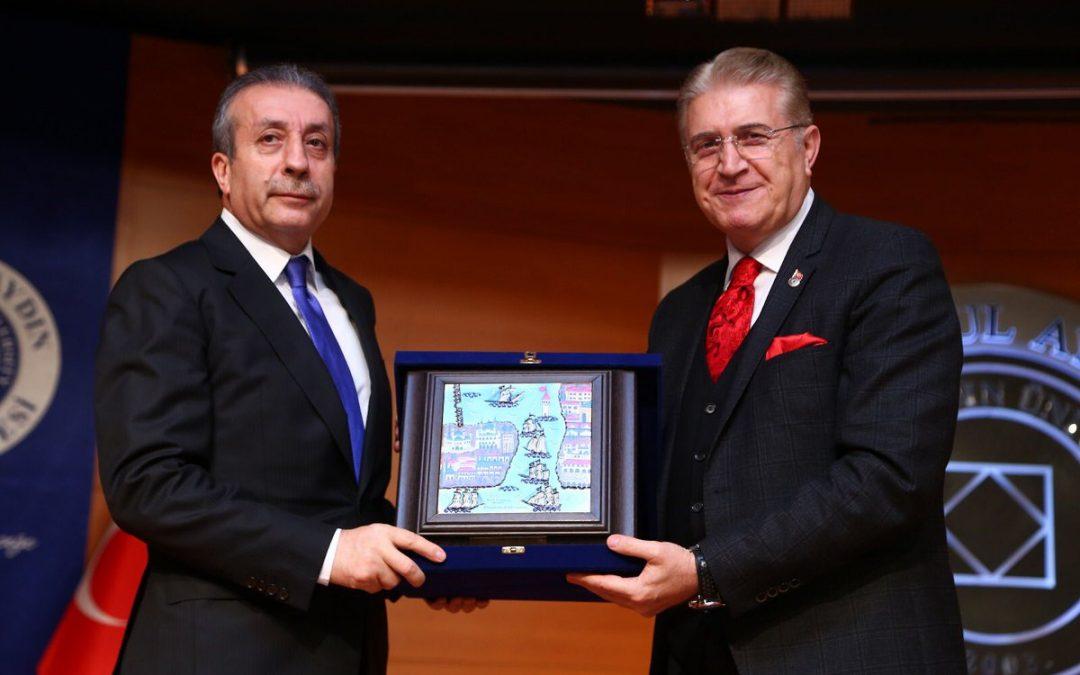 Ak Parti Genel Başkan Yardımcısı Mehdi Eker İAÜ'de
