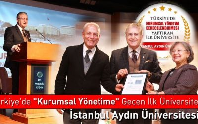 İAÜ, Türkiye'de Kurumsal Yapısını Derecelendiren İlk Üniversite Oldu