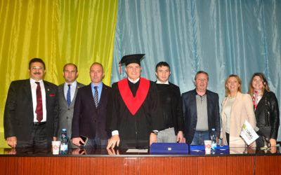 Dr. Mustafa Aydın'a  Ukrayna'dan Fahri Doktora
