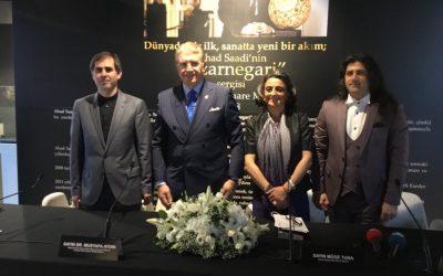 Dr. Mustafa Aydın, İranlı Sanatçı Ahad Saadi'nin Sergisinde Konuştu