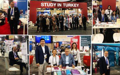 Dr. Mustafa Aydın,  NAFSA 2018 Fuarında