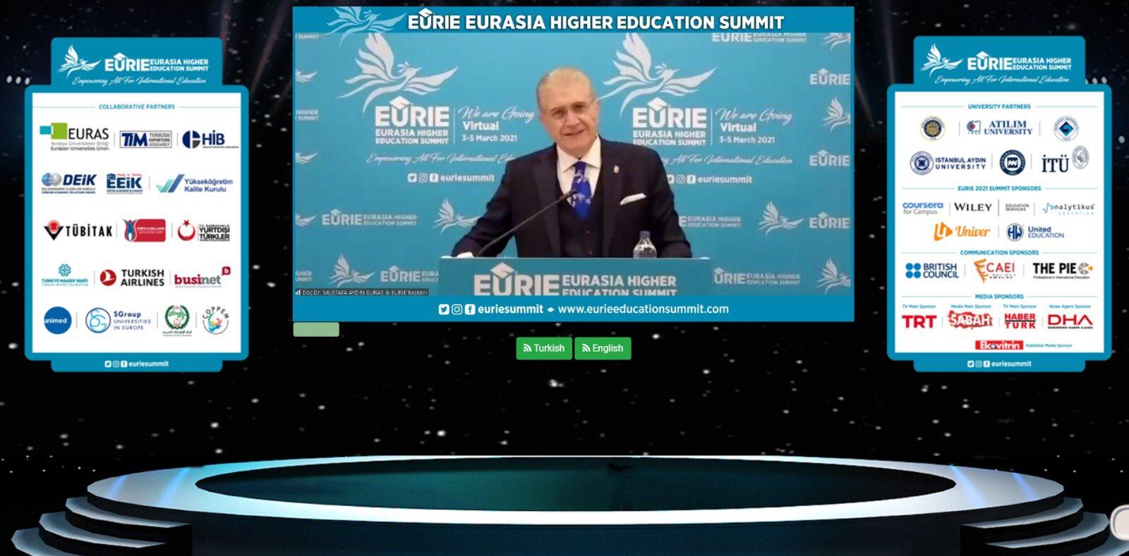 """EURIE 2021 """"MESAFELERİ KALDIRIYORUZ!"""" SLOGANI EŞLİĞİNDE KAPILARINI AÇTI! Öne Çıkan Görsel"""